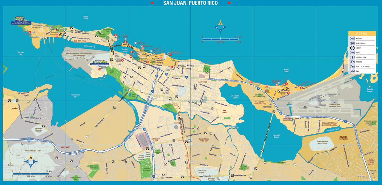 Map Of Hotels In San Juan Puerto Rico