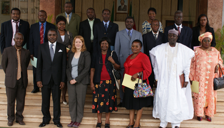 Participants from ABADCAM and key stakeholders meet with the Deputy Secretary General at the National Assembly, Yaoundé