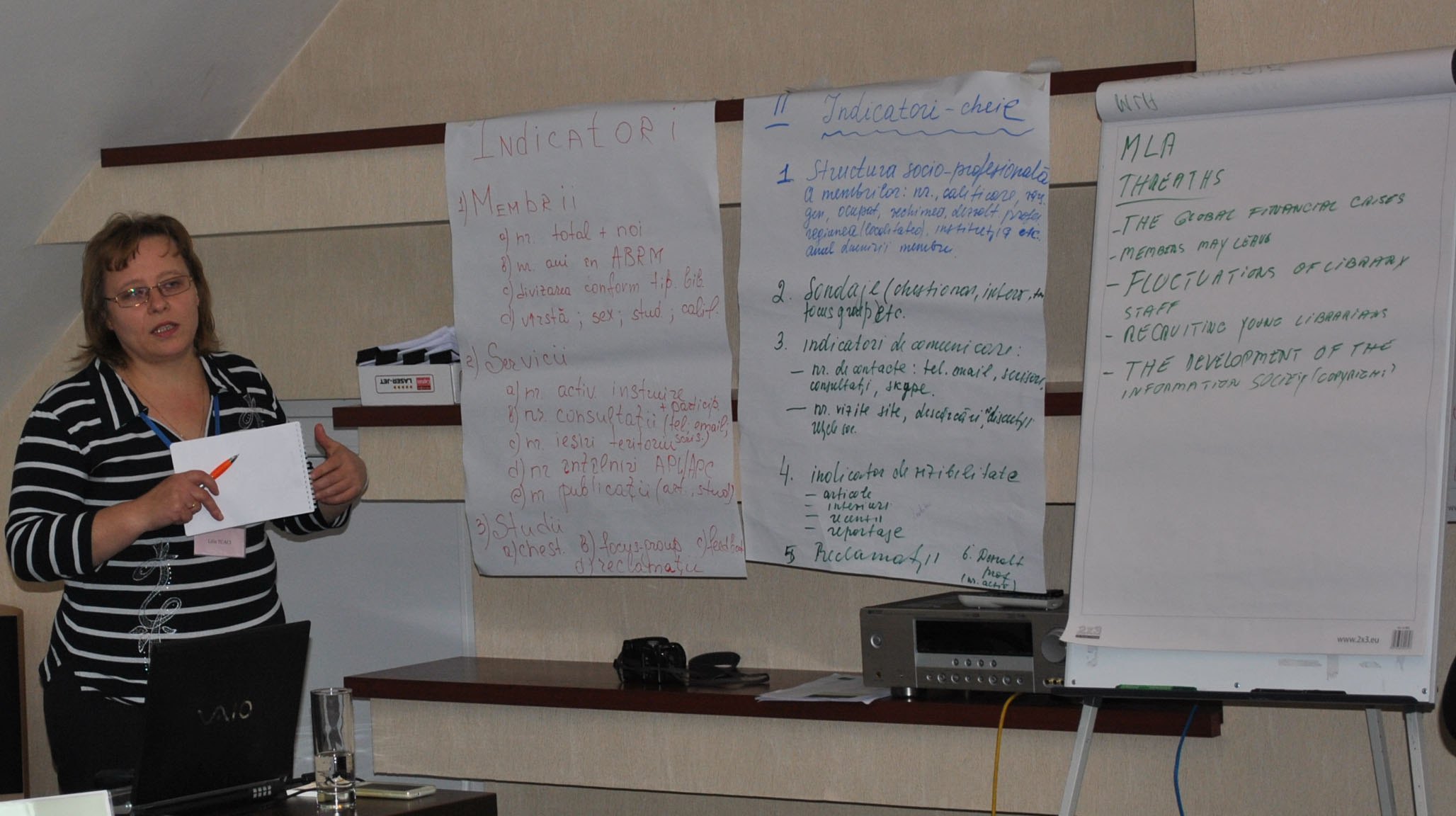 Workshop participant at the Board of The Library Association of Moldova (LAM)
