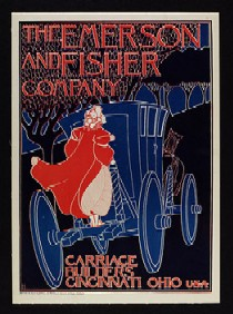 Emerson & Fisher Company - Carriage Builders, poster 1896, copyright Victoria & Albert Museum