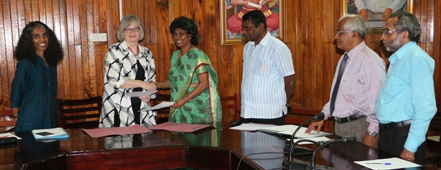 Signing of MoU - IFLA/BSLA and SLLA