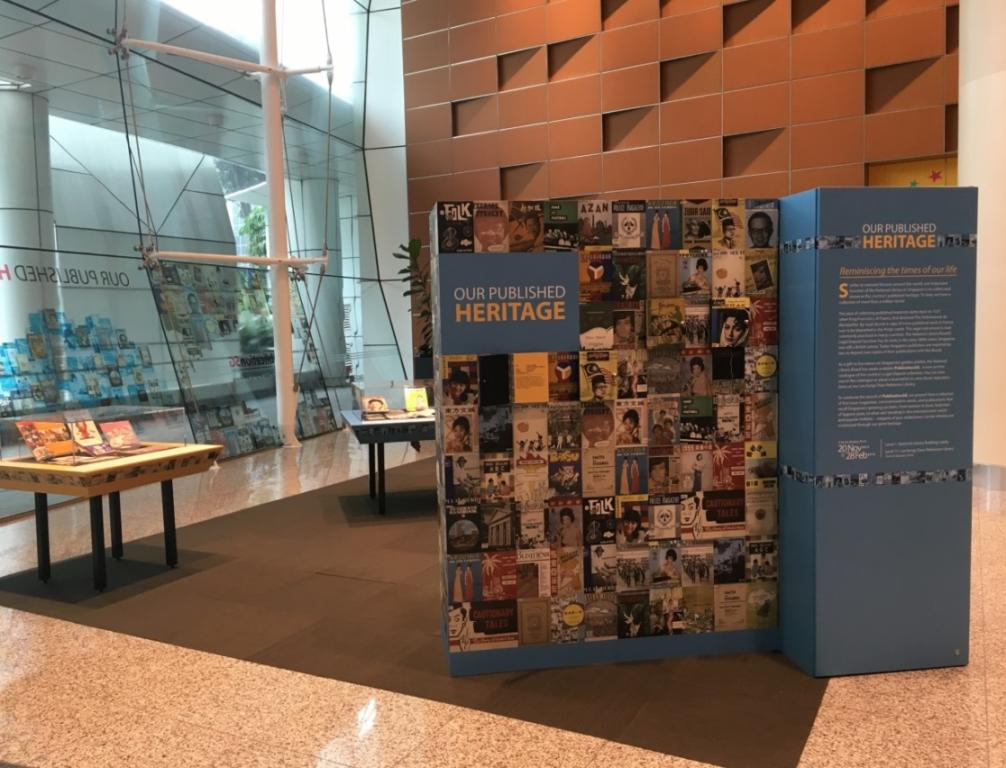 An exhibition on Singapore's published heritage; Photo courtesy of the National Library Board Singapore