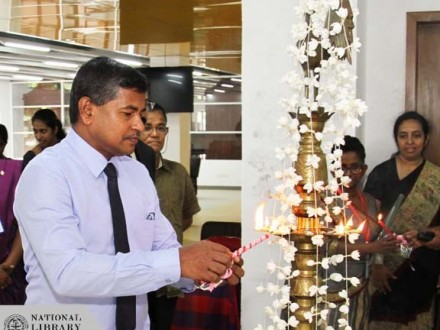 Lighting of traditional oil lamp