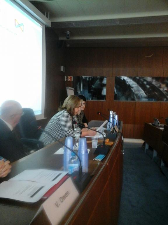 Alicia Ocaso, Uruguayan Library Association, speaks at side-event at WIPO
