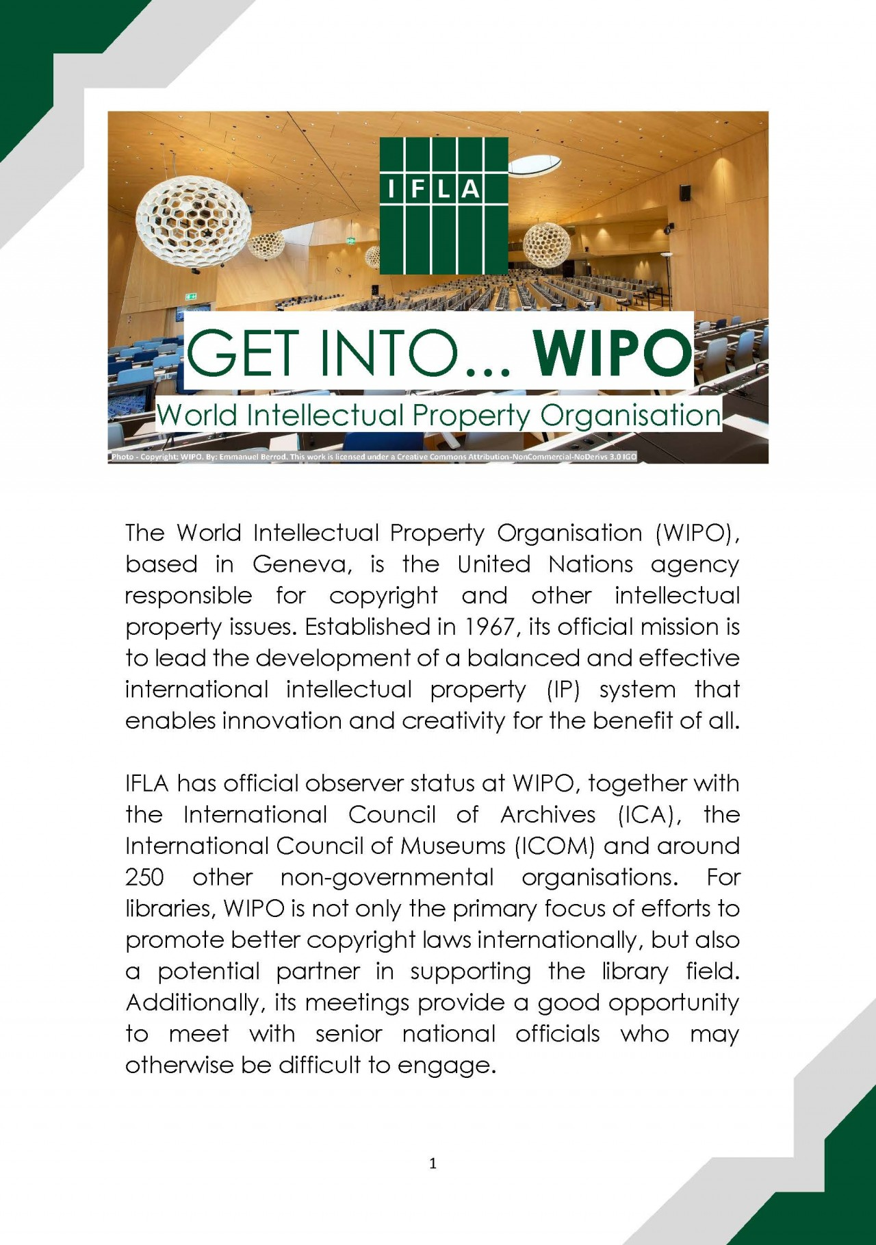 GET INTO WIPO Guide