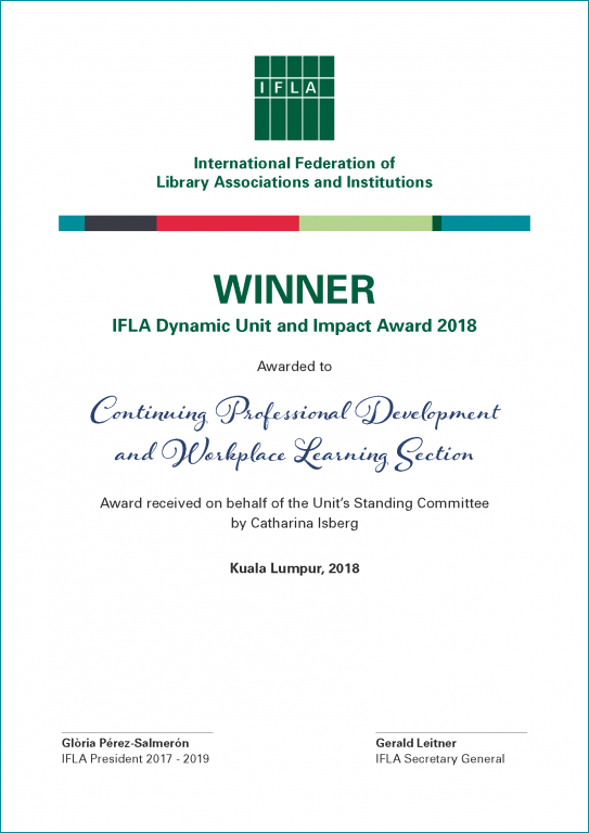 IFLA Dynamic Unit & Impact Award 2018