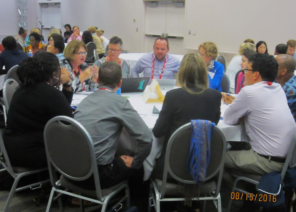 Photo of round table discussion participants