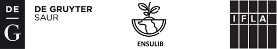 De Gruyter Saur - ENSULIB - IFLA logo block
