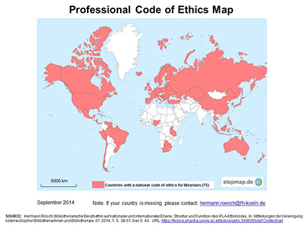 Professional Code of Ethics Map