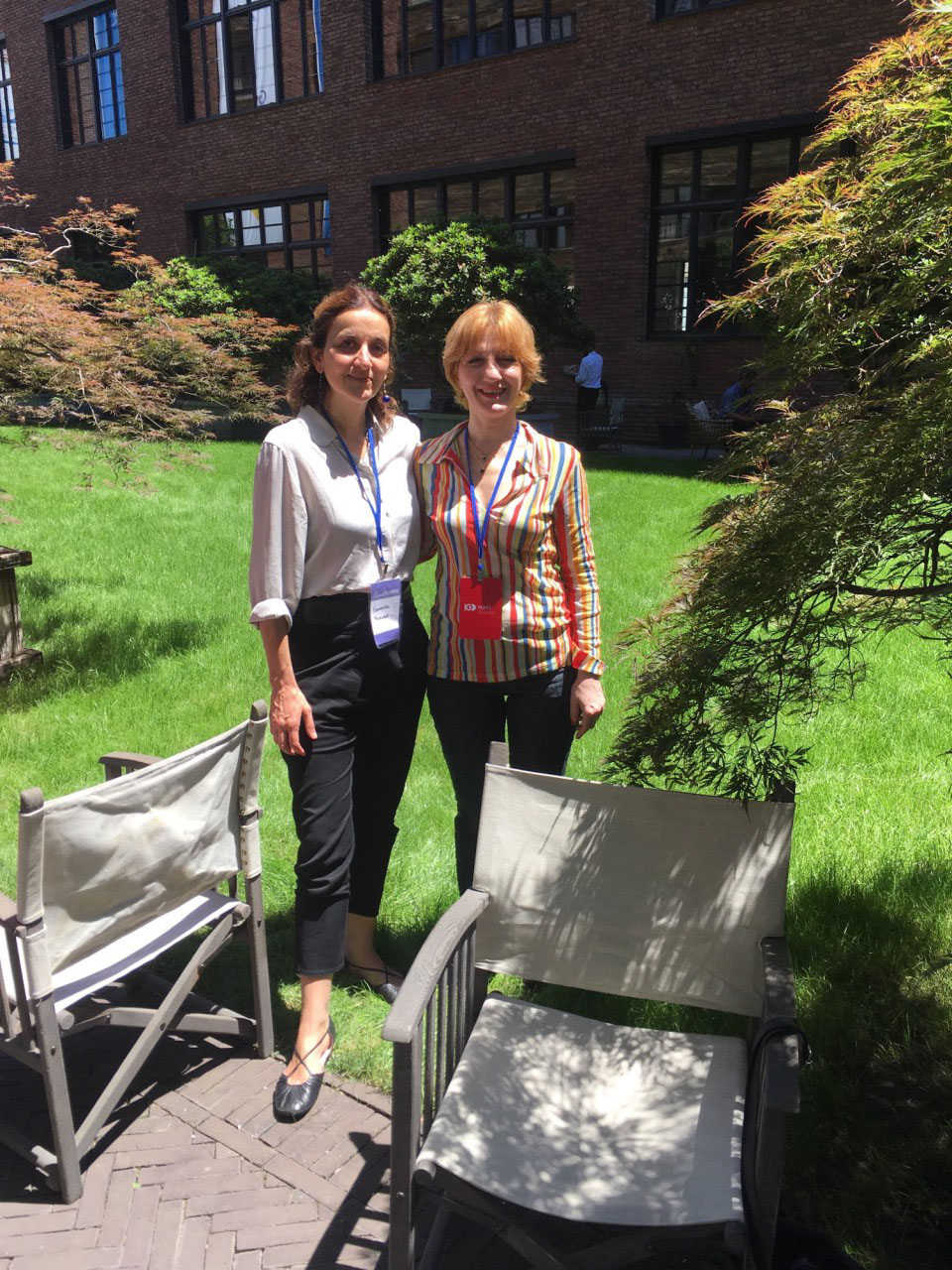 Maia and Esme at EuroDIG