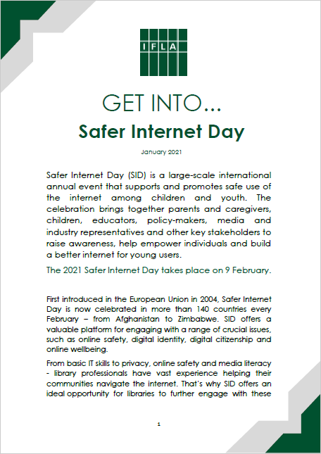 Get Into Safer Internet Day Guide - Title Page