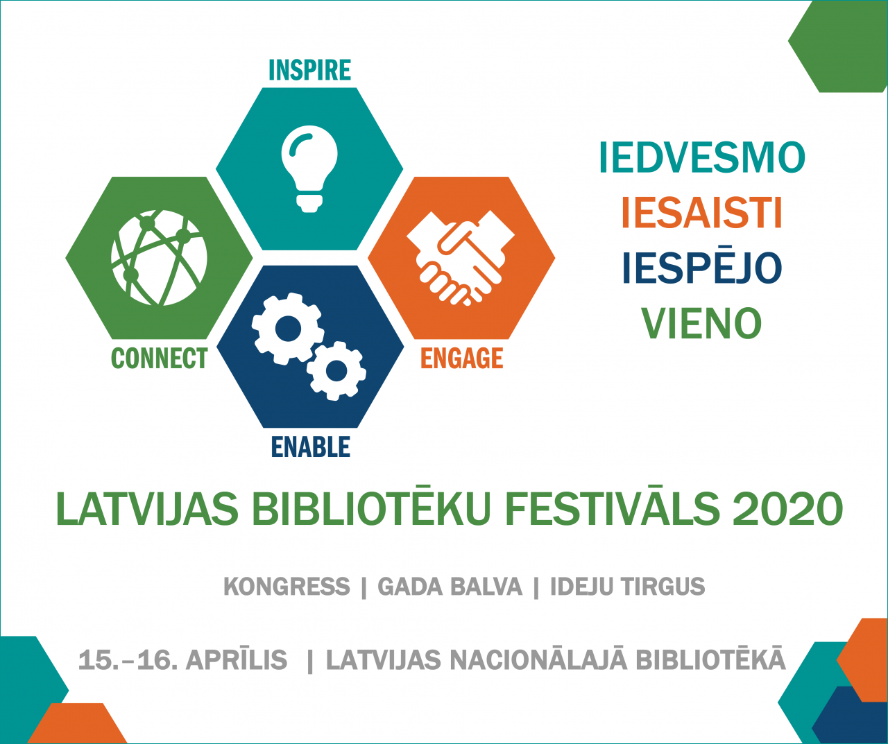 Logo of the Latvian National Library Week, celebrating the IFLA Strategy