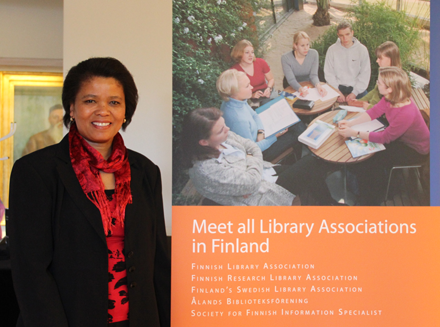 Ellen Tise at 100th Anniversary of the Finnish Library Association in Tampere, Finland