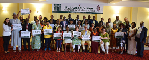 IFLA Global Vision regional workshop participants in Yaoundé, Cameroon
