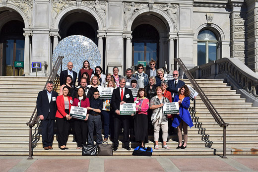 IFLA Global Vision regional workshop participants outside the Library of Congress in Washington D.C.