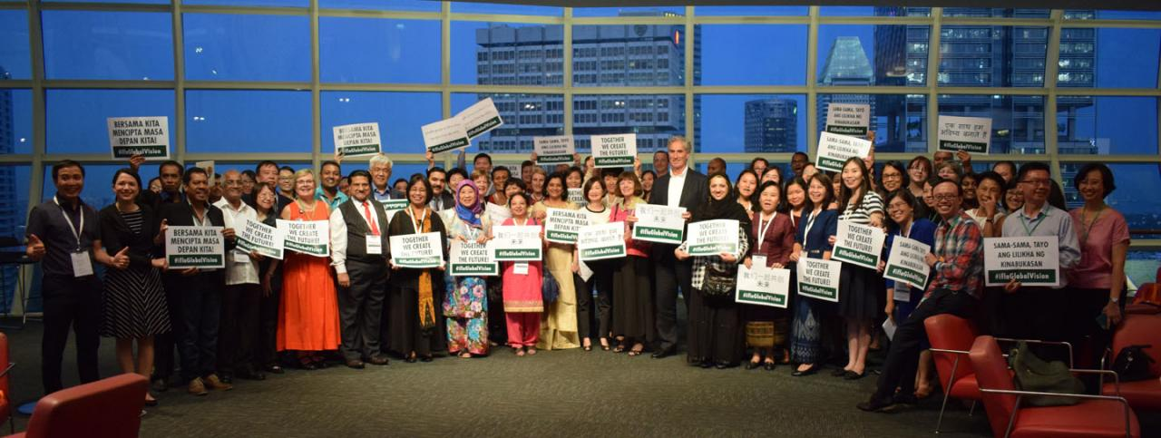 IFLA Global Vision regional workshop participants in Singapore