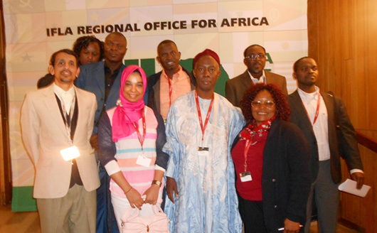 At the IFLA Regional Office for Africa
