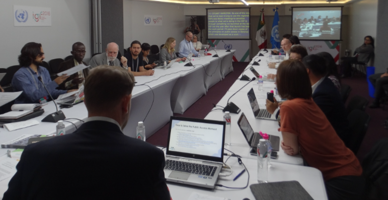 Ongoing DC-PAL session at the Internet Governance Forum in Guadalajara, 2016