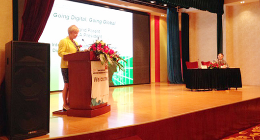Ingrid Parent delivers the Invited Presentation at the 2013 Chinese Digital Publishing and Digital Library International Conference