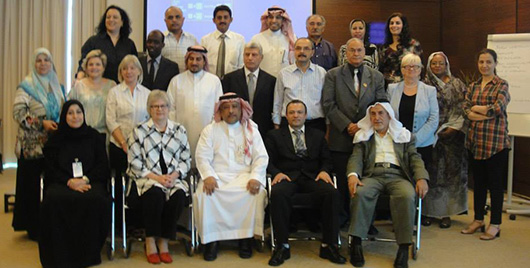 Association representatives from 15 countries attending the BSLA workshop in Doha, Qatar