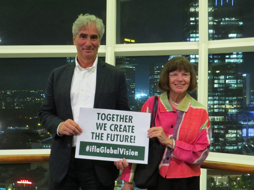 IFLA Secretary General Gerald Leitner and IFLA President Donna Scheeder in Singapore