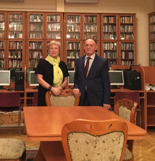 Ingrid Parent and Mayil Ahmedov, Director of the Azeri Presidential Library