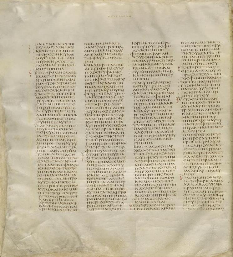 Image of the Codex Siniaticus