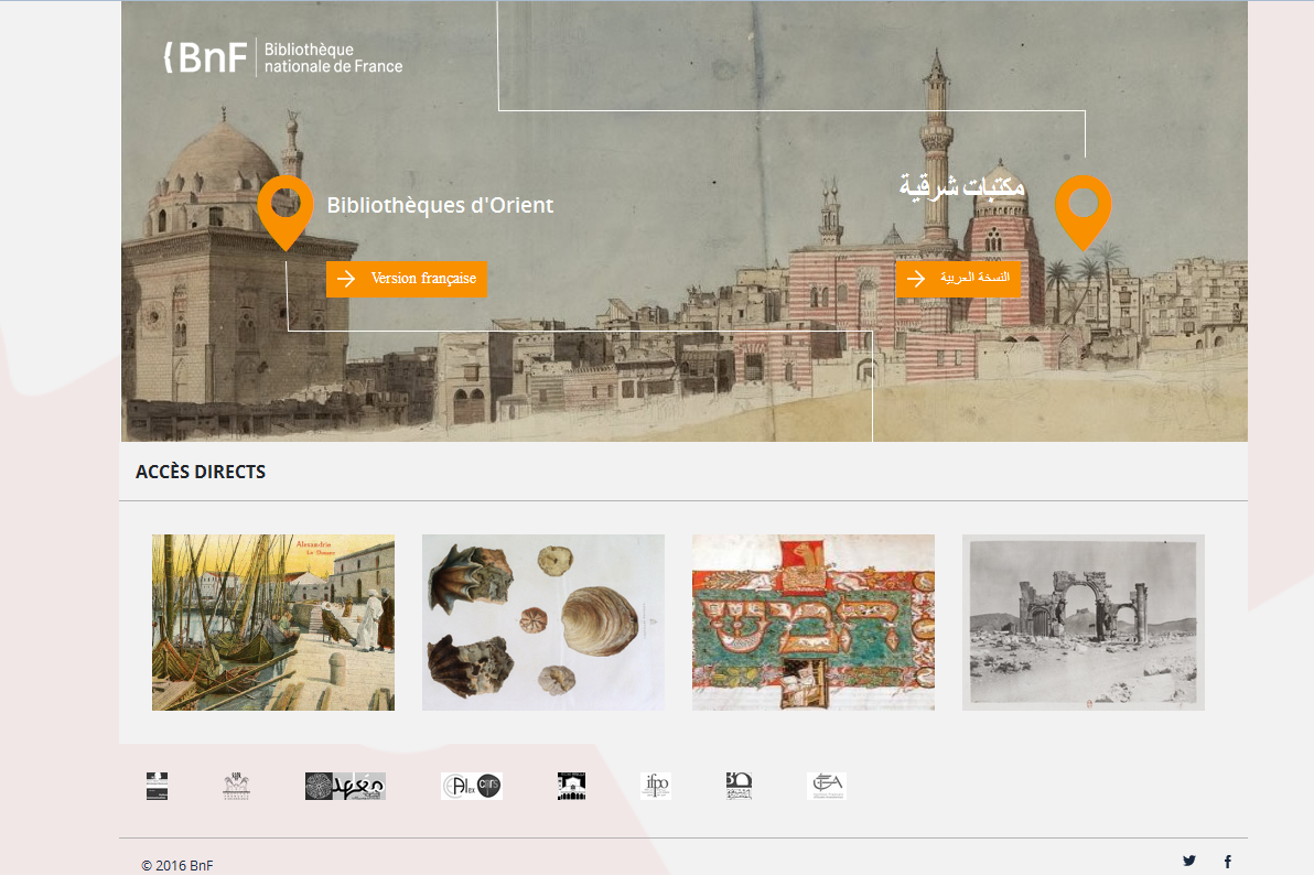 BnF Middle East libraries portal