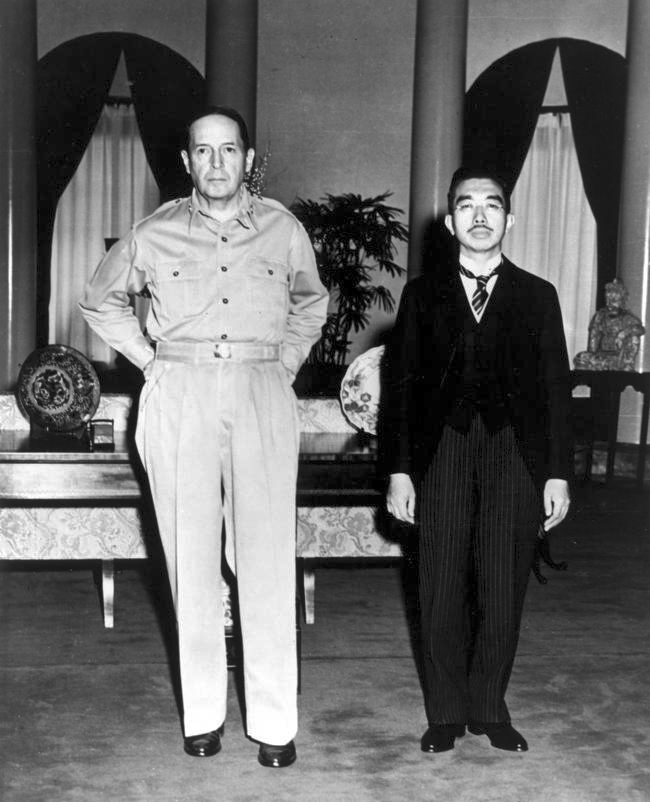 Photo of General MacArthur and Emperor Hirohito, not from the collection. By U.S. Army photographer Lt. Gaetano Faillace - United States Army photograph, Public Domain, https://commons.wikimedia.org/w/index.php?curid=31971
