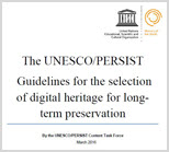 PERSIST Digital Heritage Selection Guidelines