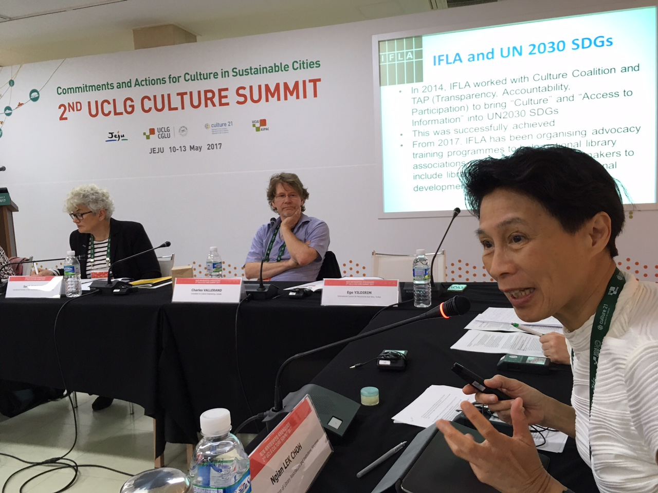 Governing Board Member Ngian Lek Choh at the UCLG Culture Summit