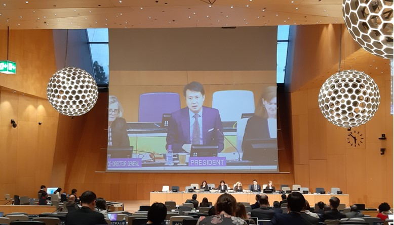 Daren Tang, Chief Executive and Registrar, Intellectual Property Office of Singapore, speaking as Chair of the 39th meeting of the WIPO Standing Committee on Copyright and Related Rights