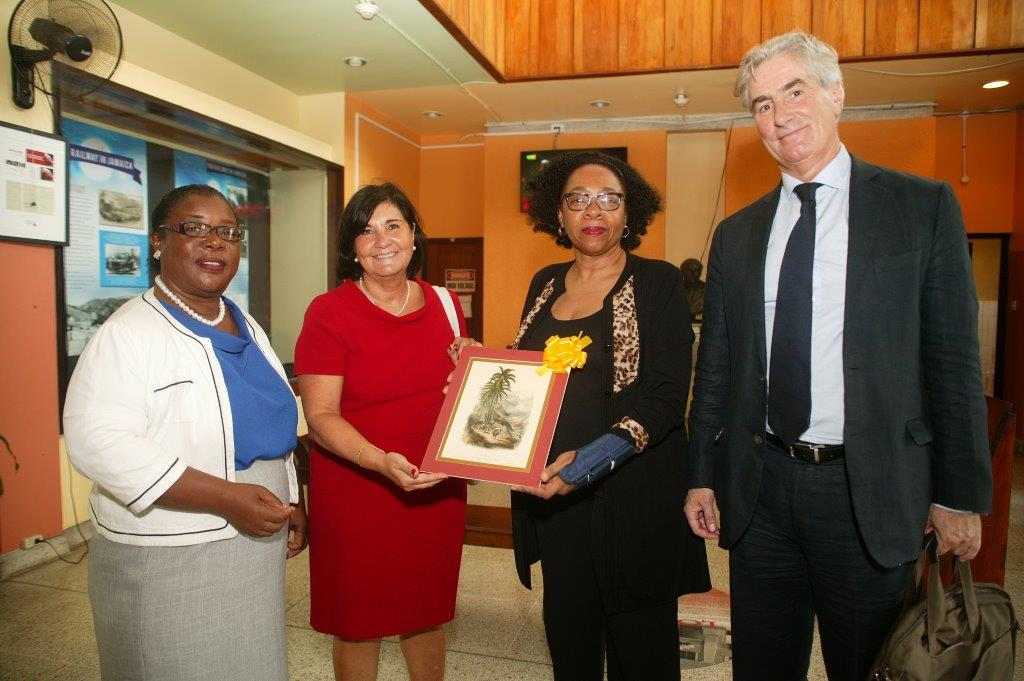 Gloria Perez-Salmeron and Gerald Leitner at the National Library of Jamaica