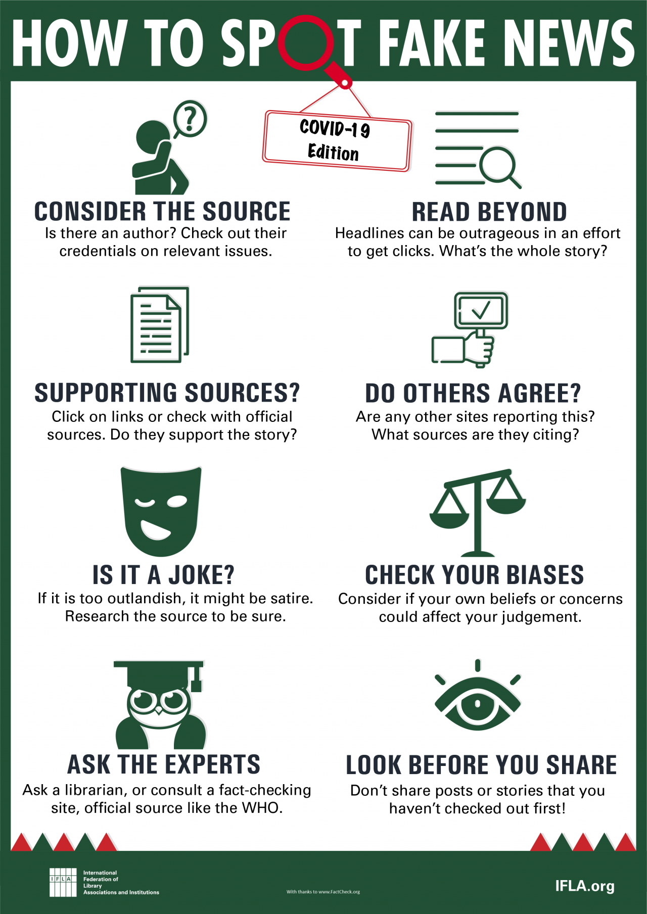 How to Spot Fake News - COVID-19 Edition