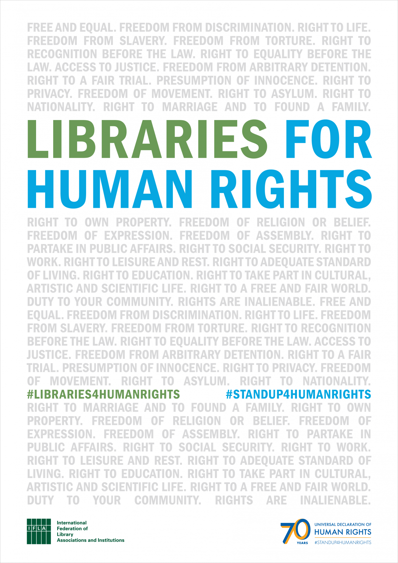 IFLA Libraries for Human Rights Poster
