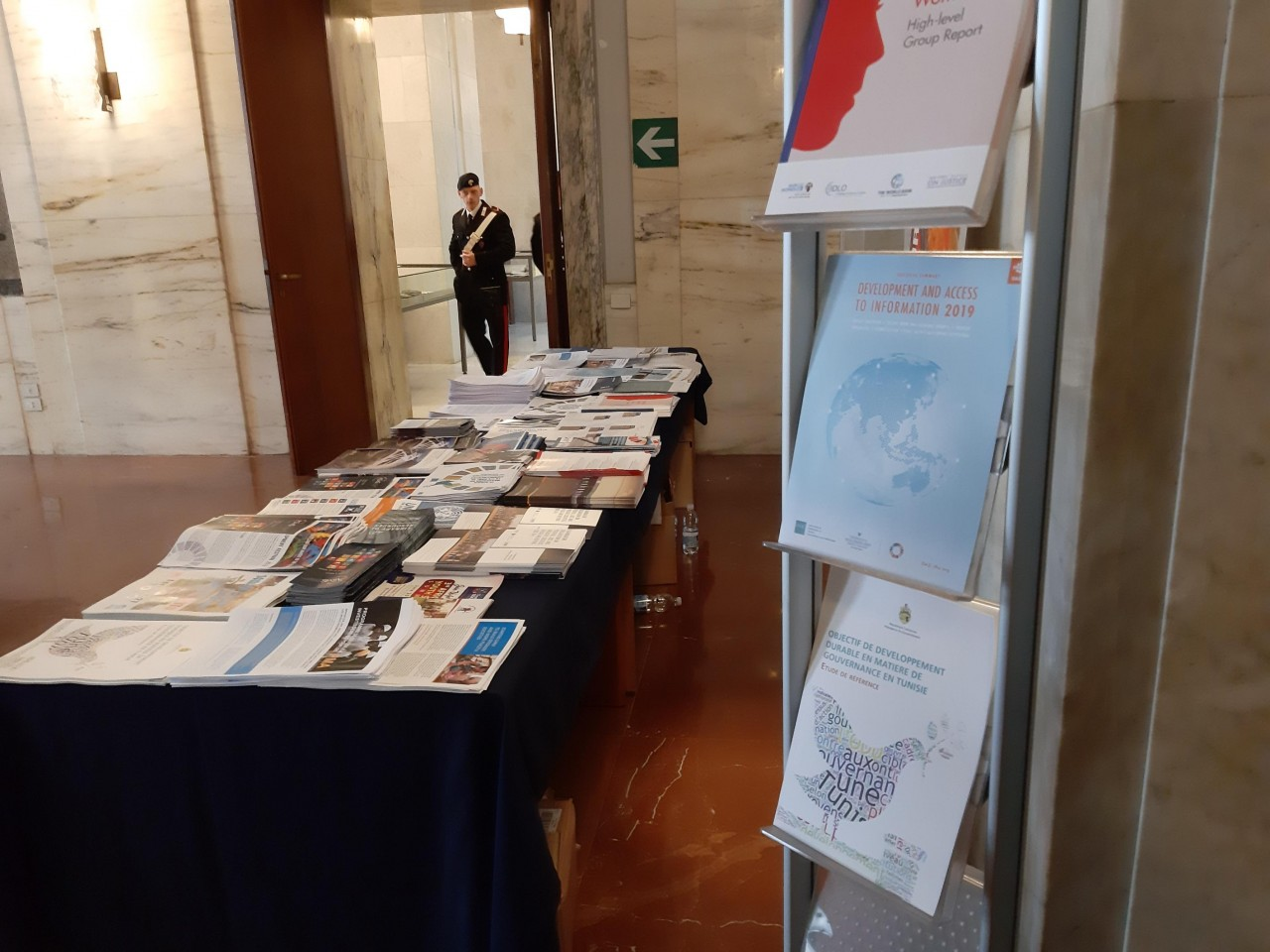 IFLA Development and Access to Information Report on display at UN SDG16 Meeting