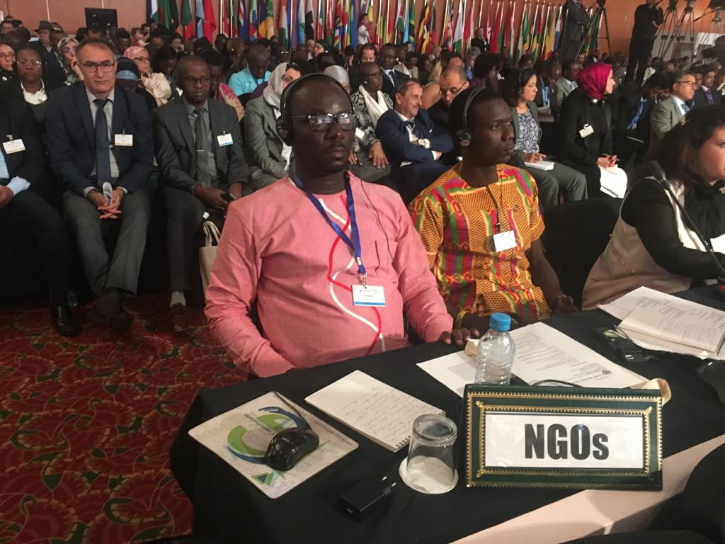 Damilare Oyedele at the Africa Regional Forum on Sustainable Development