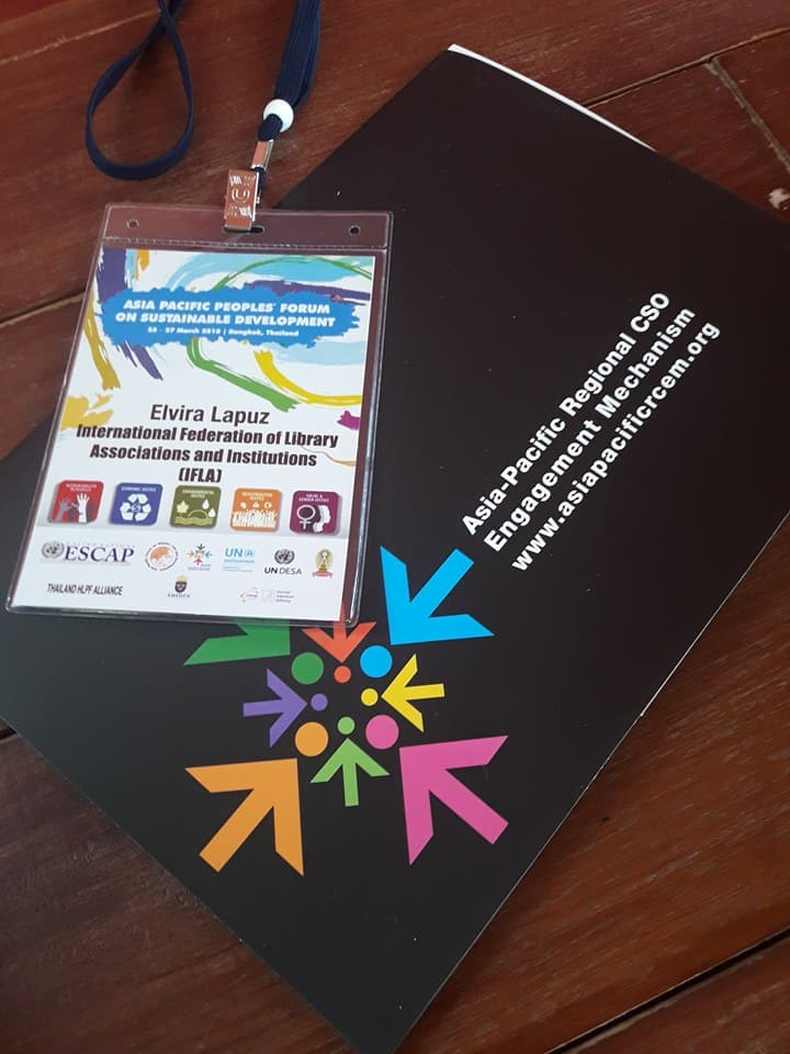 IFLA Participant's Badge for Asia-Pacific Forum on Sustainable Development