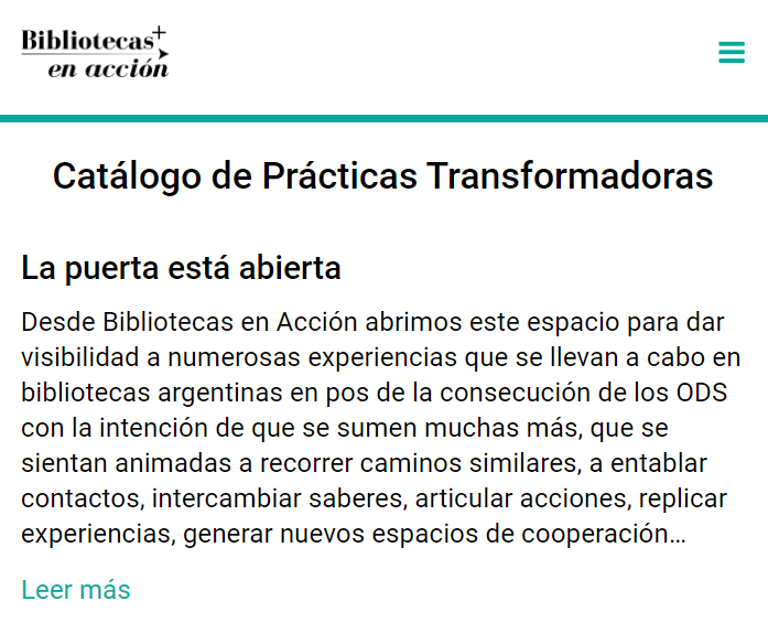 Bibliotecas en Accion - Catalogue of Transformative Actions by Governments