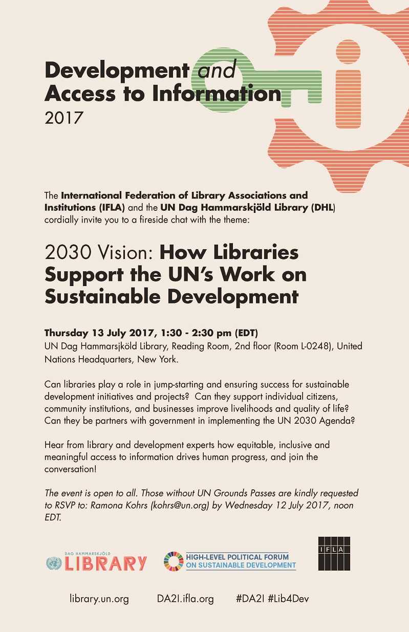 2030 Vision: How Libraries Support the UN's Work on Sustainable Development