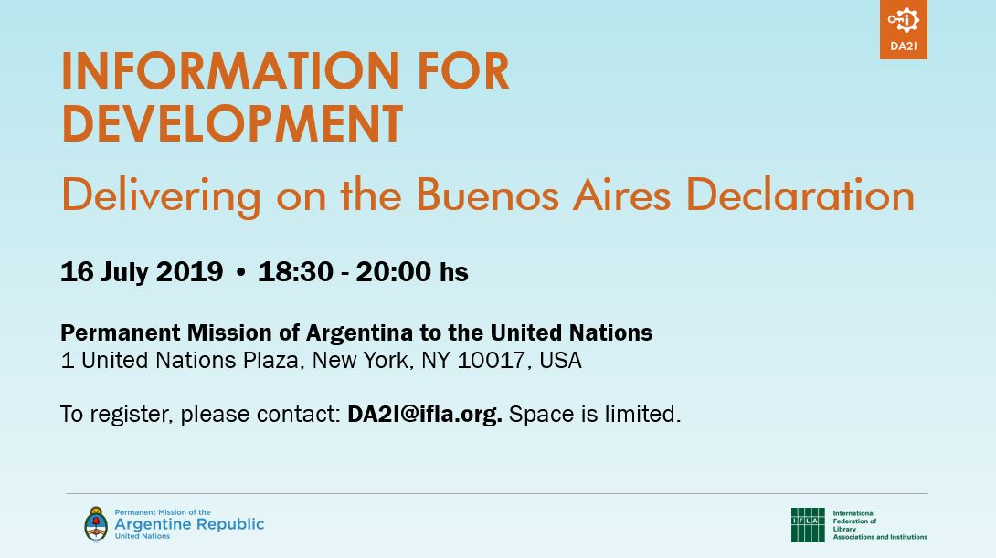 Information for Development: Delivering on the Buenos Aires Declaration