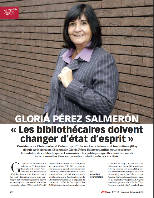 First page of interview with Glòria Pérez-Salmerón
