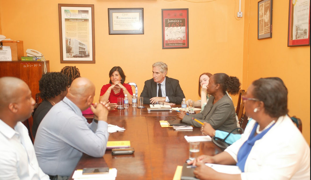 Meeting with Jamaican Libraries, National Library of Jamaica