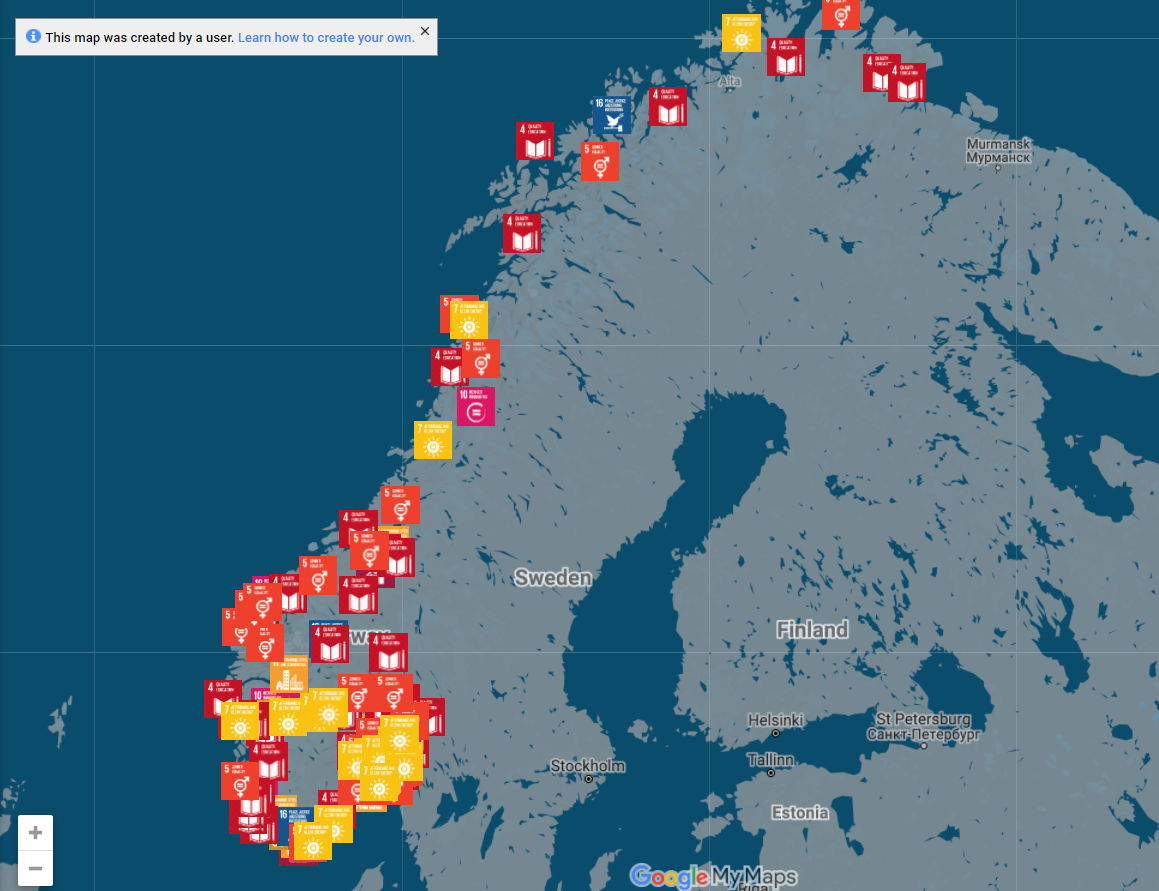 Norwegian Libraries SDG Map