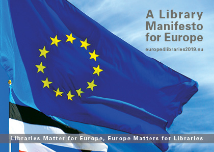 Postcard of the Library Manifesto for Europe