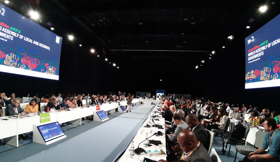 The World Assembly of Local and Regional Governments at the 10th World Urban Forum, at which IFLA spoke
