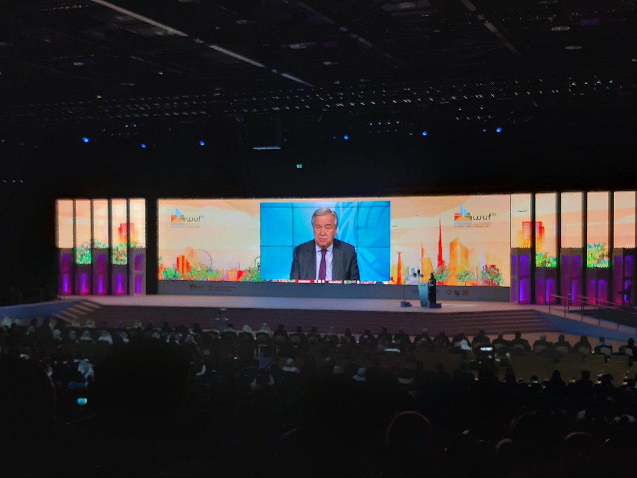 UN Secretary General Antonio Gutteres welcomes delegates to the 10th World Urban Forum