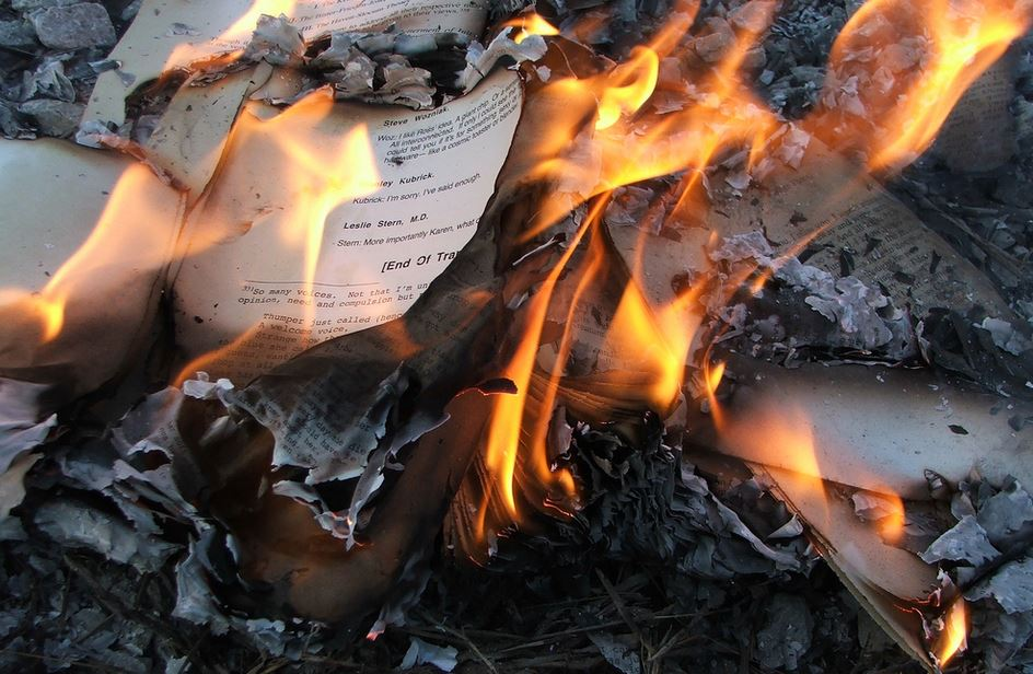 Contemporary Book Burning
