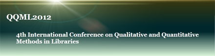 4th International Conference on Qualitative and Quantitative Methods in Libraries