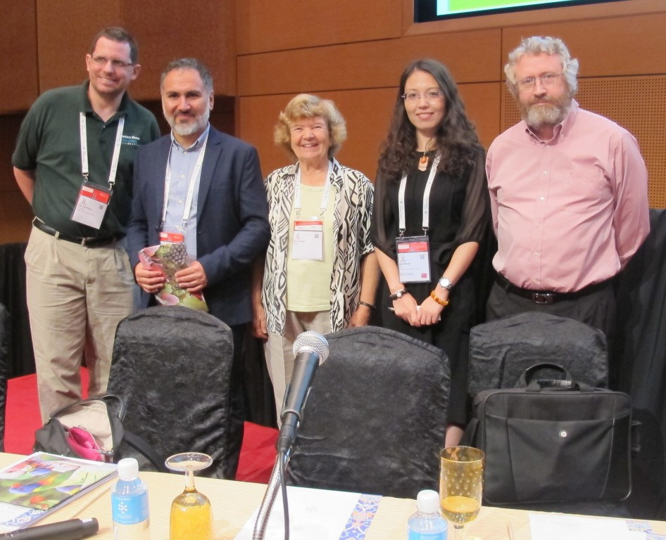 Sam Eddington (USA), Miguel Ángel Rivera Donoso (Chile), Kerry Smith (SIG Convenor – Australia), Lei Wang (China), and Brendan Luyt (Singapore)